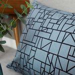 카이오 등쿠션커버  -  블루그레이 110x60 (솜포함)