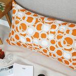 버블 등쿠션커버  -  오렌지 110x60 (솜포함)