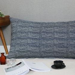 라로체 등쿠션커버  -  내츄럴블루 110x60 (솜포함)