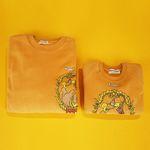 Yellow Circus Mom & Baby Sweatshirts Set