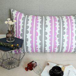 빅쉘 등쿠션커버  -  핑크 110x60 (솜포함)