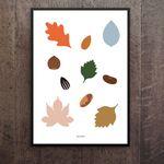 인테리어 디자인 포스터 M 가을낙엽 A3(중형)