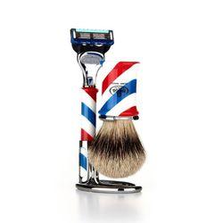 shaving brush SET F6735.6 (Silver Tip)