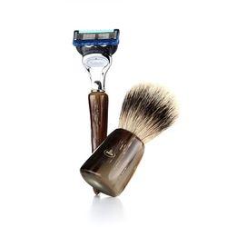 shaving brush SET F6600.2 (Silver Tip)