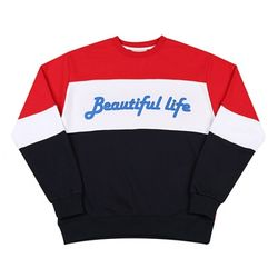 LINE SWEAT SHIRT RED