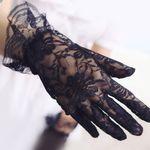 20cm 망사 손목 장갑 (블랙 1쌍)