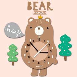 어썸프렌즈-곰(풀세트) 움직이는 추시계 무소음벽시계