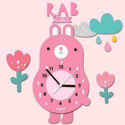 어썸프렌즈-토끼(풀세트)움직이는추시계 무소음벽시계