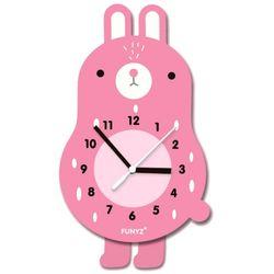어썸프렌즈-토끼(단품) 움직이는 추시계 무소음벽시계