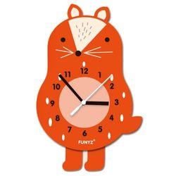 어썸프렌즈-여우(단품) 움직이는 추시계 무소음벽시계
