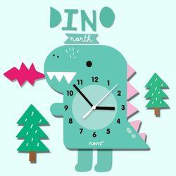 어썸프렌즈-공룡(풀세트)움직이는추시계 무소음벽시계