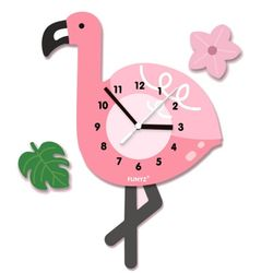 어썸프렌즈-플라밍고(단품) 움직이는 추시계 벽시계