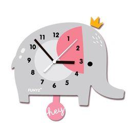 어썸프렌즈-코끼리(단품) 움직이는 추시계 벽시계