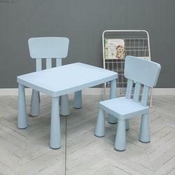 솝 엘리 사각 테이블 + 사각 체어(2개) 세트