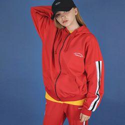 프리미엄 오버사이즈 짚 재킷 (red)