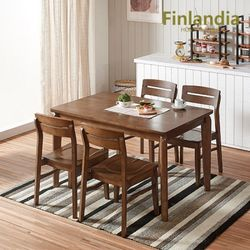 버베나 4인 원목식탁세트(의자4)