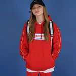 Oversize Front Logo Hoodie (red)