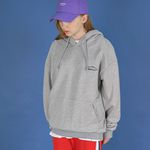 Oversize Lettering Over Hoodie (gray)