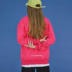 레터링 오버 스웨트 셔츠  (pink)