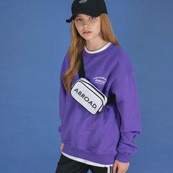 레터링 오버 스웨트 셔츠 (purple)