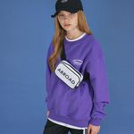 Lettering Over Sweat Shirt (purple)