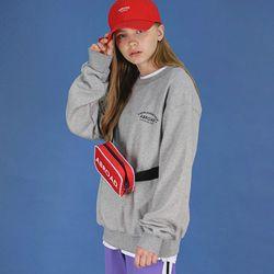 레터링 오버 스웨트 셔츠 (gray)