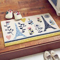 [무료배송] 에펠탑 레이스무늬 현관매트 (40cmx65cm)