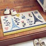 에펠탑 레이스무늬 현관매트 (40cmx65cm)