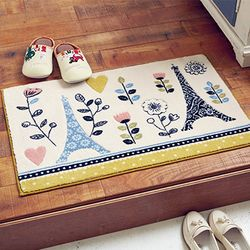 [무료배송] 에펠탑 레이스무늬 현관매트 (50cmx80cm)