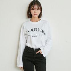 [로코식스] candlelight lettering t-shirts티셔츠