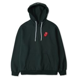 TRS CLASSIC TONGUE COLOR HOODIE DARK GREEN