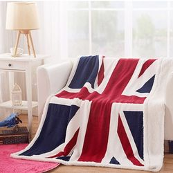 유니언잭 영국 국기 대형 양털 담요