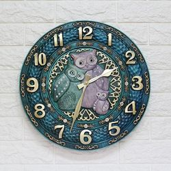 ART 부엉이시계 CL550EG 인테리어벽시계(中)