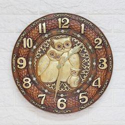ART 부엉이시계 CL550B 인테리어벽시계(中)