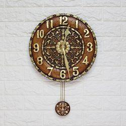 ART 브라운 CL101B 인테리어벽시계 앤틱시계