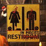 할로윈 호러 포스터 (화장실)