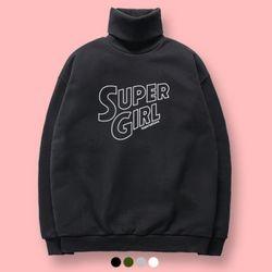 슈퍼레이티브 - SUPER GIRL 기모 목폴라 맨투맨