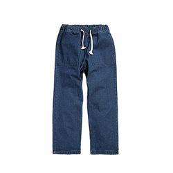 Solid Denim Easy Pants
