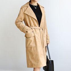 포켓 스웨이드 코트[77994]