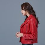 Basic Rider jacket for Woman (Red)