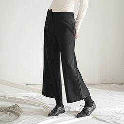 Asymmetric Pants - Black