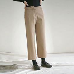 Asymmetric Pants - Beige