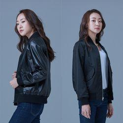 MA-1 Reversible Jacket for Woman (Black&Black)