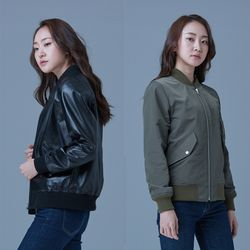 MA-1 Reversible Jacket for Woman (Black&Khaki)