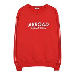 시그니처 로고 스웨트 셔츠 (red)