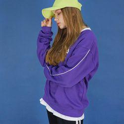 시그니처 로고 스웨트 셔츠 (purple)