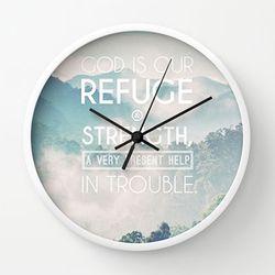 시편 46:1 벽시계