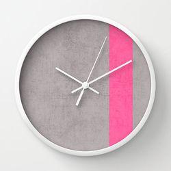 핑크 디바인 벽시계