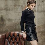 Unbalance mini skirt