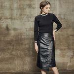 Unbalance long skirt